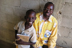 Audio Bible Listeners, Father & Son - Nigeria, Africa